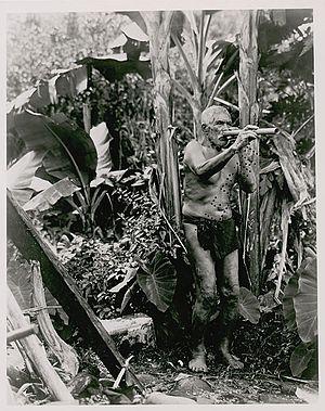 Ukeke - Native Hawaiian man playing the ʻūkēkē