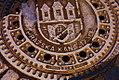Kanalizační poklop se znakem města Prahy, Haštalská ulice, Staré Město (Praha), Hlavní město Praha.jpg