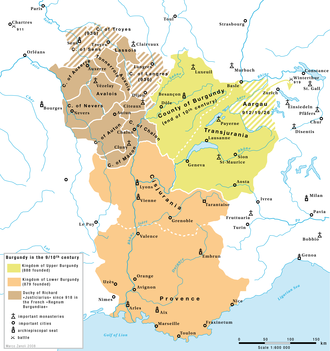 Rudolph II of Burgundy - Upper and Lower  Burgundy, about 900