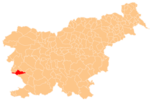 The location of the Municipality of Komen