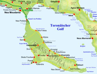 Map Of Thessaloniki City Centre
