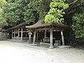 Katsuragi Shrine, Haraedono Shrine, Iyonokuni Main Shrine and Chozuya in Oyamazumi Shrine.jpg