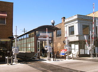 Albany Park, Chicago - Rebuilt Kedzie Station House