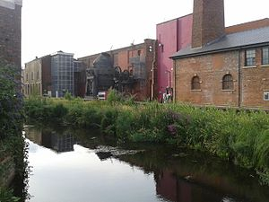 Kelham Island Museum - The museum seen from across the mill race