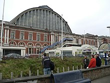 Kensington Olympia exhibition centre from station.jpg