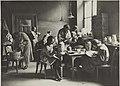Keramiikan koristelua, opetustilanne, 1920-luku. Taideteollisuuskeskuskoulun opetustilanteita.-TaiKV-07-024.jpg
