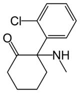 Strukturformel von Ketamin
