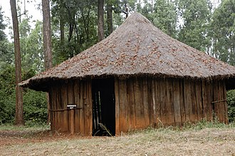 Jomo Kenyatta - A traditional Kikuyu house similar to that in which Kenyatta would have lived in Nginda.