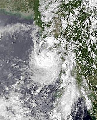 1983 North Indian Ocean cyclone season - Image: Kim Oct 19 1983 0817Z