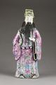 Kinesisk figur föreställande Shou Xing är en av de tre taoistiska stjärngudarna för lycka - Hallwylska museet - 95994.tif