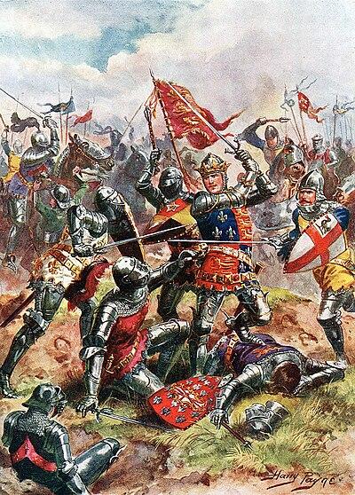 King Henry V at the Battle of Agincourt