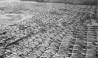 Reconstruction Finance Corporation - Acres of World War II aircraft in storage, awaiting their fate at Kingman, 1946