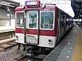 Kintetsu 8600 series 8151 at Hirahata Station.jpg
