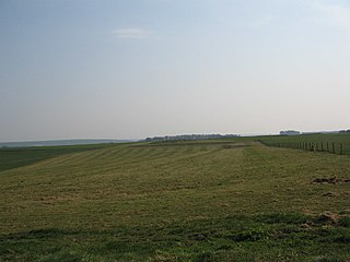 Knook Castle site of an Iron Age univallate hillfort in Wiltshire, England
