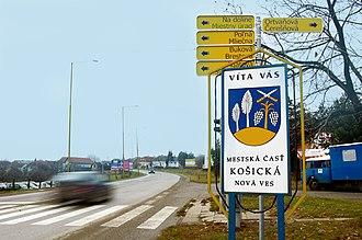 Košická Nová Ves - Image: Košická Nová Ves sign,Slovakia