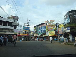 Kodakara town in Kerala, India