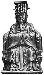 Estatua de Confucio en bronce
