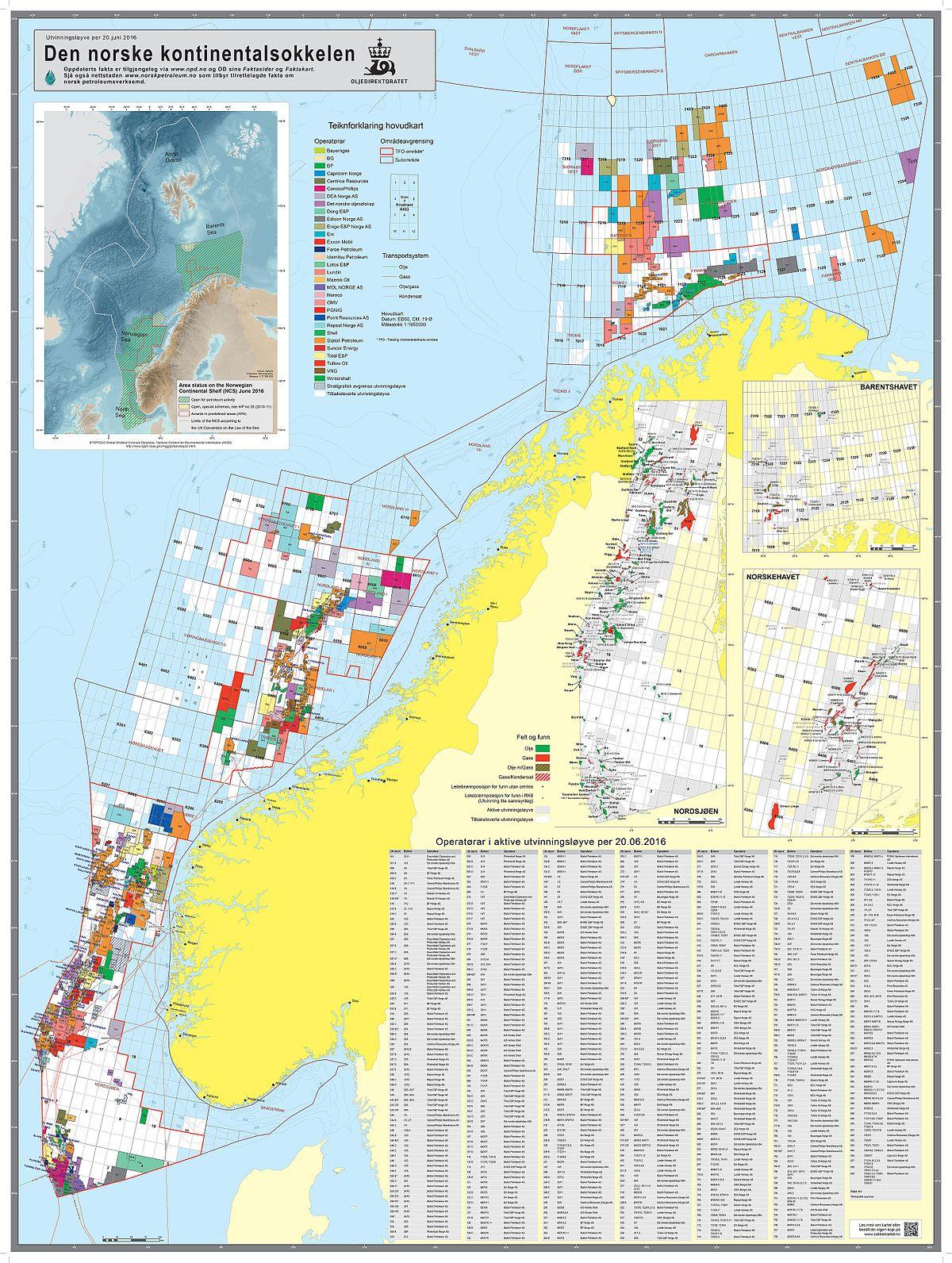 Norwegian Continental Shelf Wikipedia