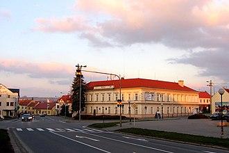 Kunovice (Uherské Hradiště District) - Image: Kunovice square