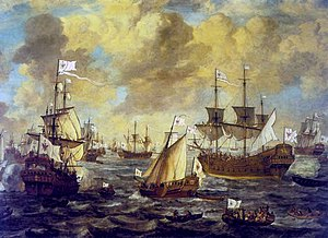 Brandenburg Navy - The Brandenburg Navy on the open sea, 1684.