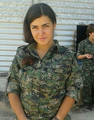 Women's Protection Units - Member of the YPJ with a standard uniform