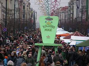 Kaziuko mugė - Crowds in Kaziukas' Fair in 2007