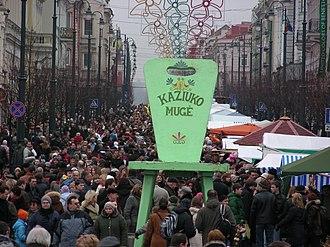 Kaziuko mugė - Crowds in Kaziukas' Fair in 2007