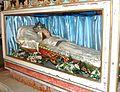 L'urna della Vergine dormiente (la dormitio Virginis), statua in cera, opera del XVII sec. conservata presso la chiesa Madre di San Cataldo (provincia Caltanissetta).jpg