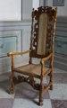 Länstol av bonad valnöt, 1600-talets sista hälft - Skoklosters slott - 108723.tif
