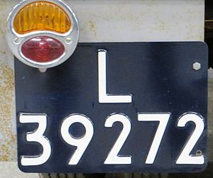 Vehicle registration plates of the Netherlands - Image: L 39272 County licenseplate Utrecht 02