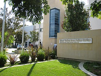 Los Angeles Police Department - The West Valley Division police station.