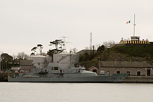 Haulbowline - LÉ Niamh (P52) docked at the former coaling wharf, Haulbowline