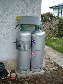 Two 45 kg 99 lb lpg cylinders in new zealand used for domestic