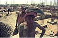 Labourers - Convention Centre Complex Under Construction - Science City - Calcutta 1994-May 003.JPG