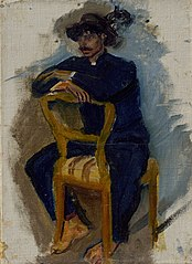Dandy Seated on a Chair in the Biedermeier Style