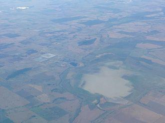Lake Cowal - Lake Cowal from the air
