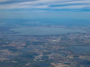 Lake Apopka - Lake Apopka, as viewed from a commercial flight on January 21, 2012.