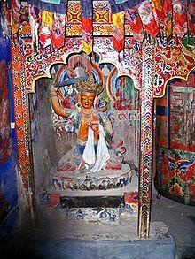 Lalung Gompa Manjushri statue