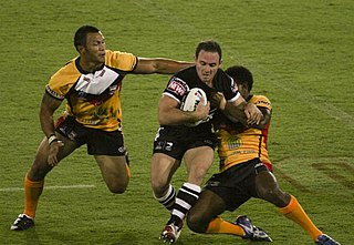 Rugby league Full-contact sport played by two teams of thirteen players on a rectangular field