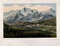 Landscape mountain view of Bagnères de Bigorre at midday. Co Wellcome V0012193.jpg