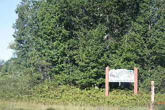 Langlade County, Wisconsin - Looking north at the welcome sign for Langlade County