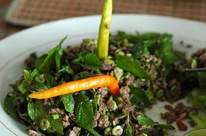 Larb - Image: Lao Food Larb Neua
