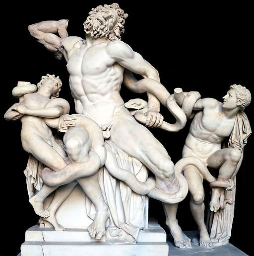 Laocoon and His Sons black