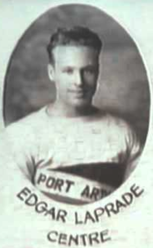 Edgar Laprade - Laprade pictured on the 1939 Port Arthur Bearcats composite photo