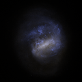 Large Magellanic Cloud rendered from Gaia EDR3 without foreground stars.png