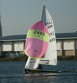 Lark (dinghy) - Lark with Spinnaker