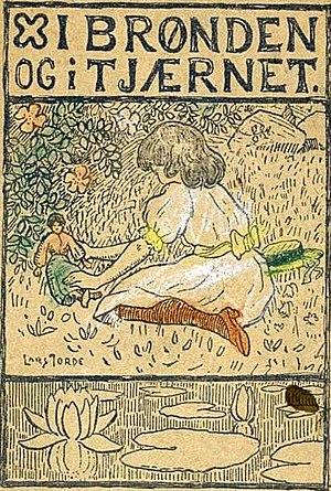 Lars Jorde -  Cover of  I brønden og i tjernet drawn by Lars Jorde. 1898