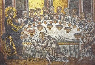 Last Supper - Last Supper, mosaic