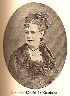 American immigration to Mexico - Laureana Wright de Kleinhans, daughter of an American father and Guerreran mother, was a feminist pioneer of Mexico
