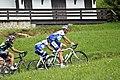 Laurent Mangel et Ludovic Turpin dans le col des Saisies (6043699648).jpg
